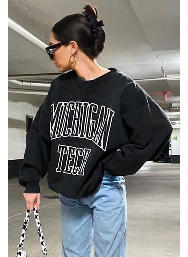 Madmext Mad Girls  Kadın Sweatshirt Mg922 Siyah
